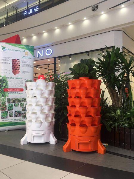 combo 2 tháp trồng rau hữu cơ Eco VN