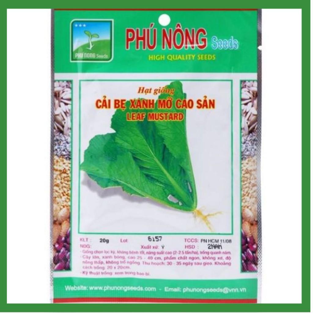Cải bẹ xanh mỡ cao sản Phú Nông 20g